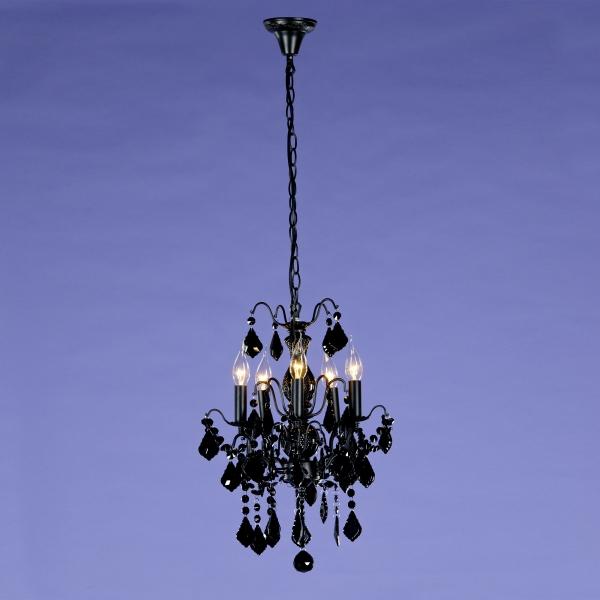 Charlotte 5 Light Chandelier - Black
