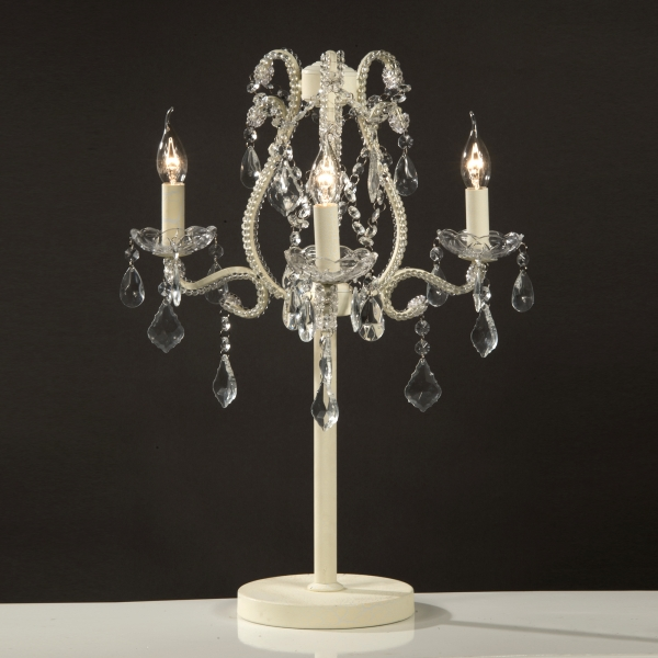 Marie Therese 3 Arm Candelabra - Cream Crack
