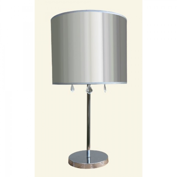 Table Lamp - Chrome and Clear