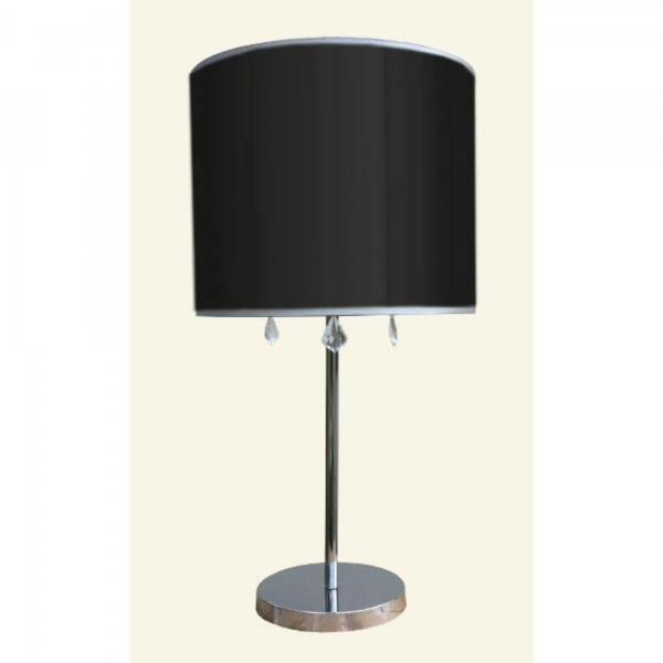 Table Lamp - Chrome and Black