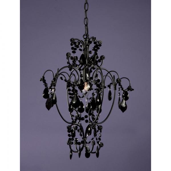 Vintage Crystal Chandelier Light - Black
