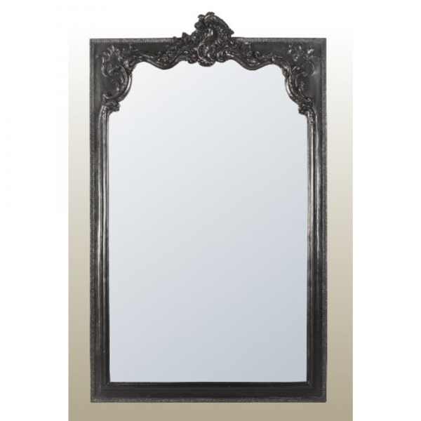 Rocaille Black Bevelled Mirror