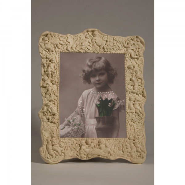Cream Clay Paint Portrait Photo Frame