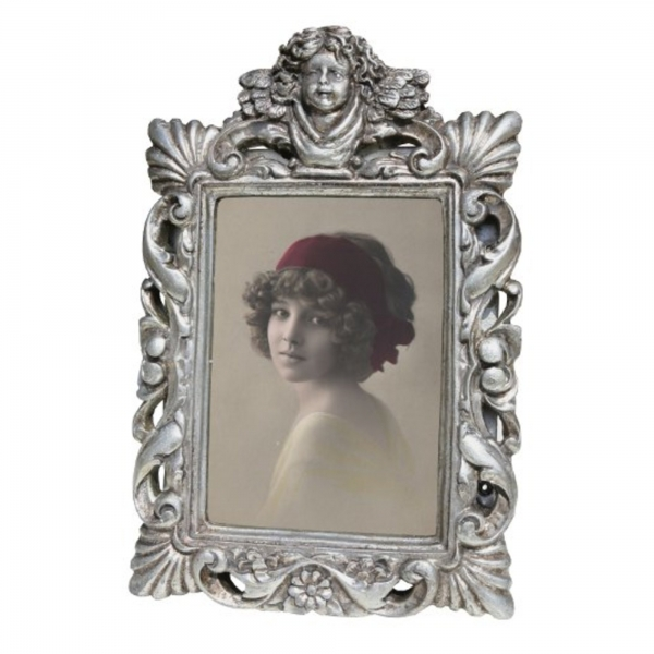 Silver Gilt Leaf  Photo Frame