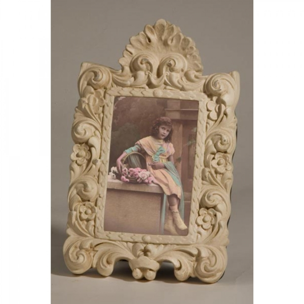 Cream Clay Paint Photo Frame