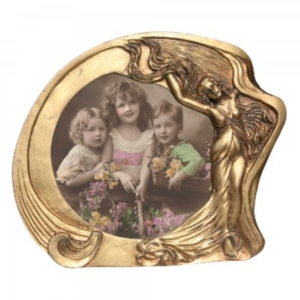Art Nouveau Gold Gilt Leaf Photo Frame