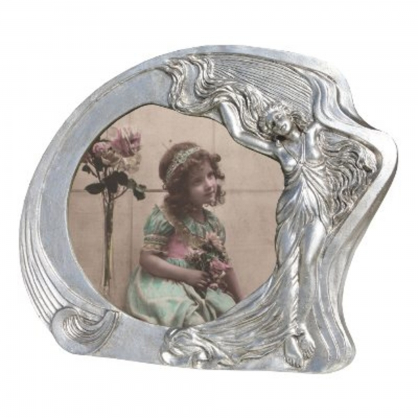 Art Nouveau Silver Gilt Leaf  Photo Frame