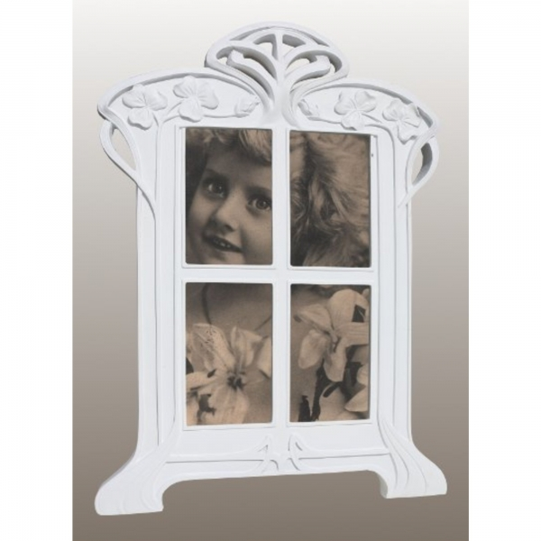 White Clay Paint Portrait Photo Frame
