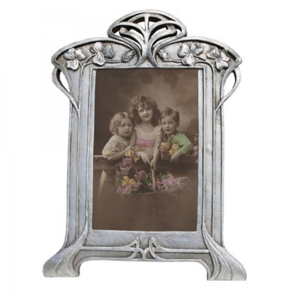 Silver Gilt Leaf Portrait Photo Frame