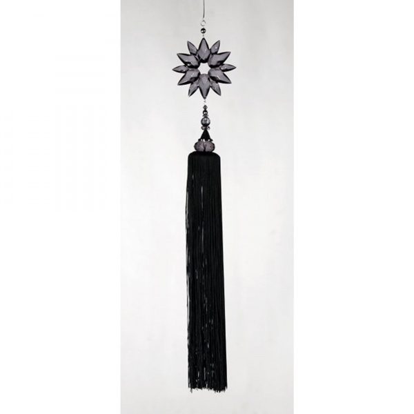 Black Tassel with Smoked Crystal
