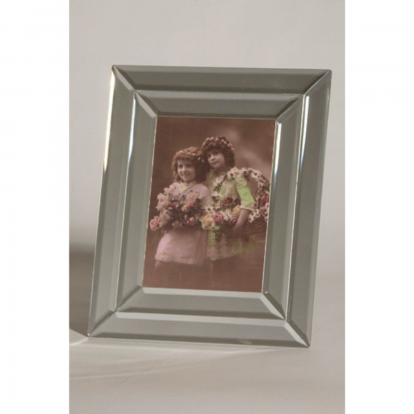 Venetian Mirrored Portrait Photo Frame