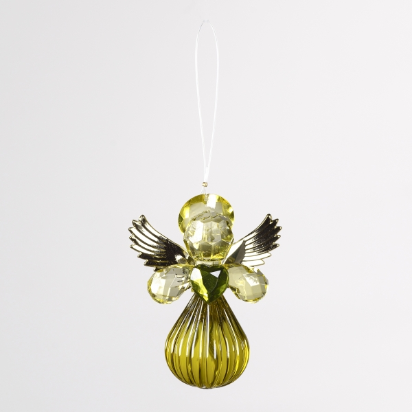 Decorative Accessories Angel Olive Acrylic with Gold