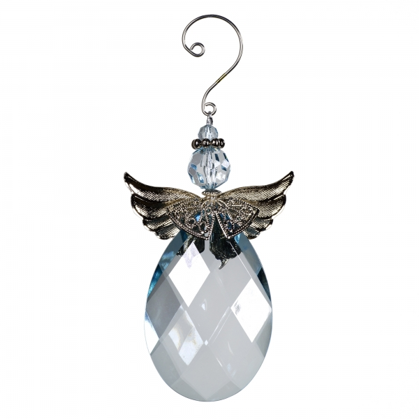 Decorative Accessories Angel Blue Water Acrylic with Silver
