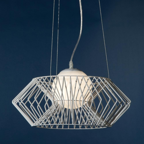 Geometric Pendant Ceiling Light - White
