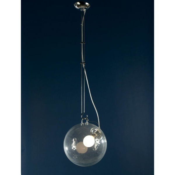 Glass Sphere Ceiling Light - Silver