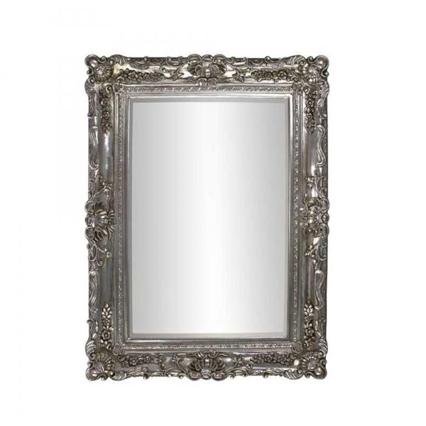 Rosetti Baroque Silver Bevelled Floor Mirror
