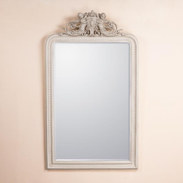 Cherubim Rococo Mirror - White