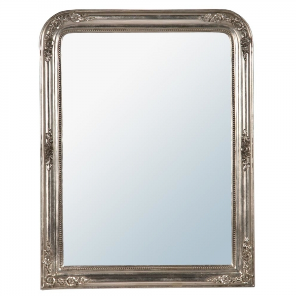 Louis philippe Champagne Silver Gilt leaf bevelled Mirror