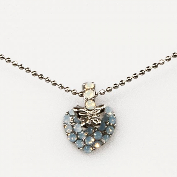 Air Blue WTW Heart Butterfly Necklace