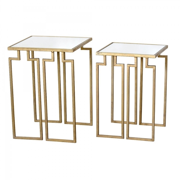 Gin Shu Metal Nest of Tables - Gold