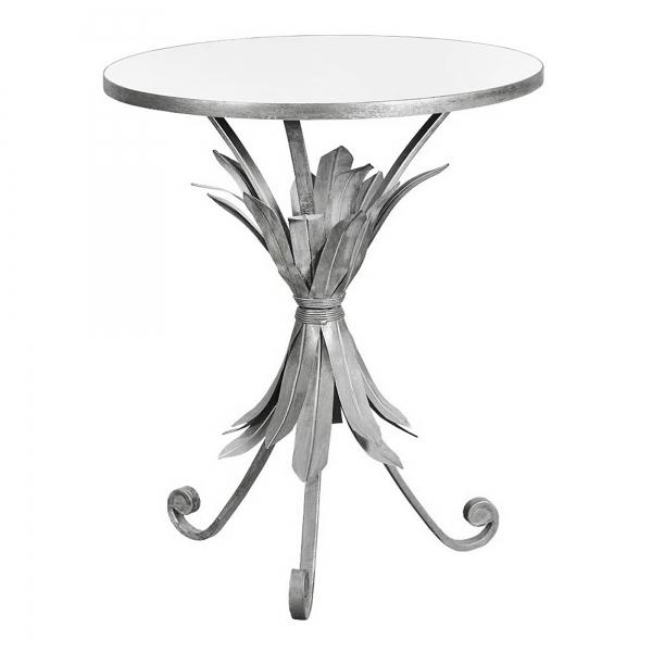 Gin Shu Metal Side Table - Silver
