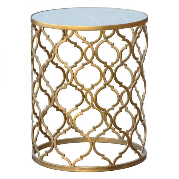 Gin Shu Metal Side Table - Gold