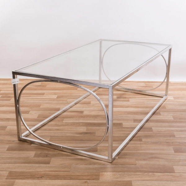 Gin Shu Metal Coffee Table - Silver Gilt Leaf EXTRA PACKAGE
