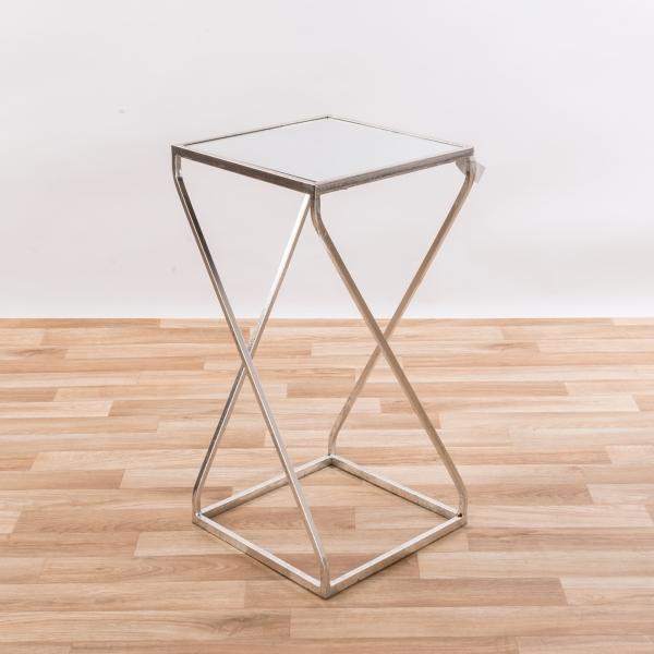 Gin Shu Metal Side Table - Silver Gilt Leaf