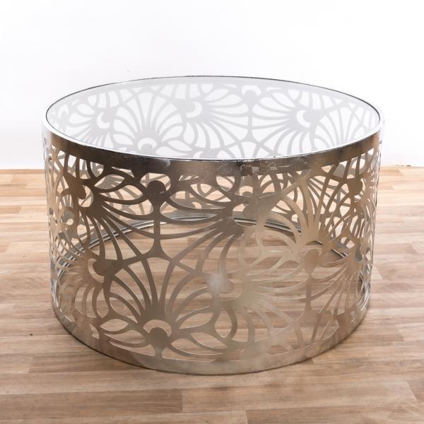 Gin Shu Metal Coffee Table - Silver Gilt Leaf