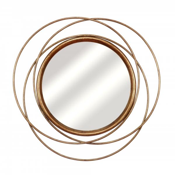 Gin Shu Metal Mirror - Gold Gilt Leaf