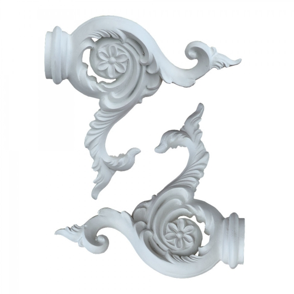 White Clay Paint Curtain Finials - 10.5 inch