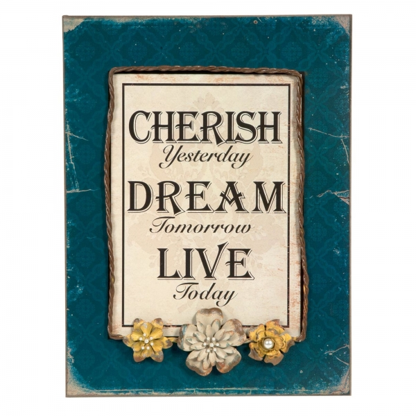 Vintage Primavera Frame with Proverb