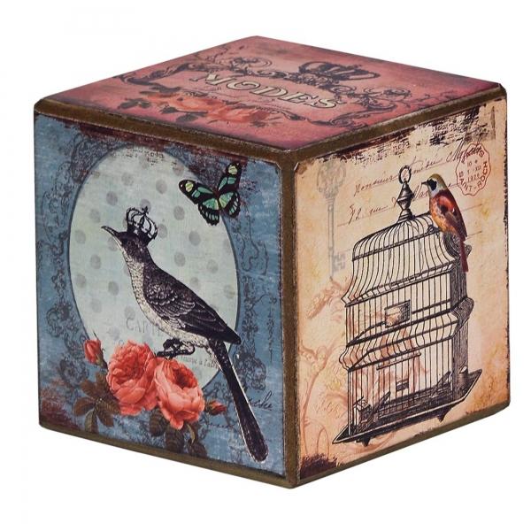 Vintage Primavera Wooden Tumbling Box