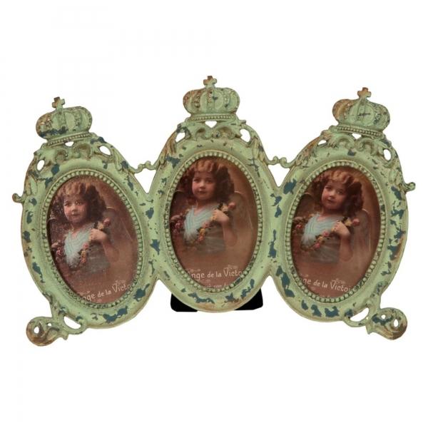 Vintage Primavera Triple Picture Frame