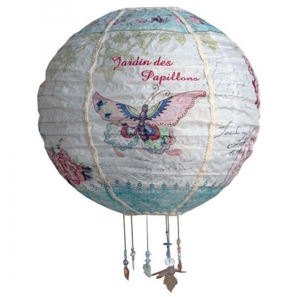 Vintage Primavera Lantern with Butterfly