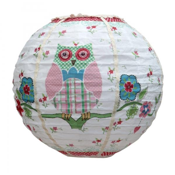 Vintage Primavera Lantern with Owl