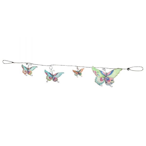 Vintage Primavera Metal Wall Art Chain of Butterfly