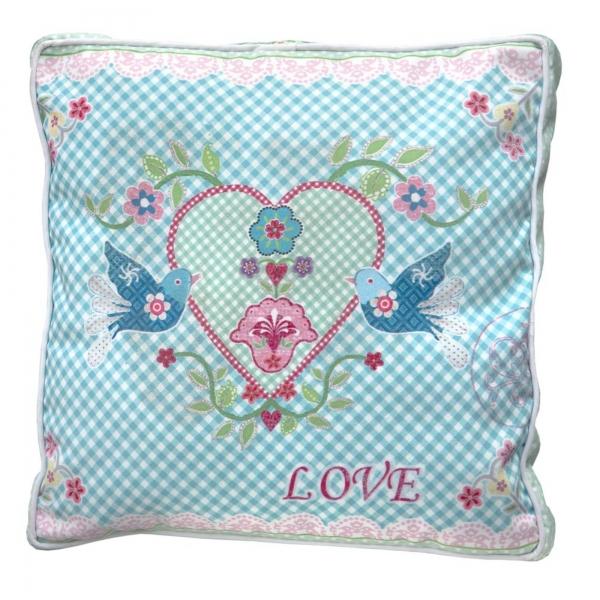 Vintage Primavera Cushion Love Birds with Heart