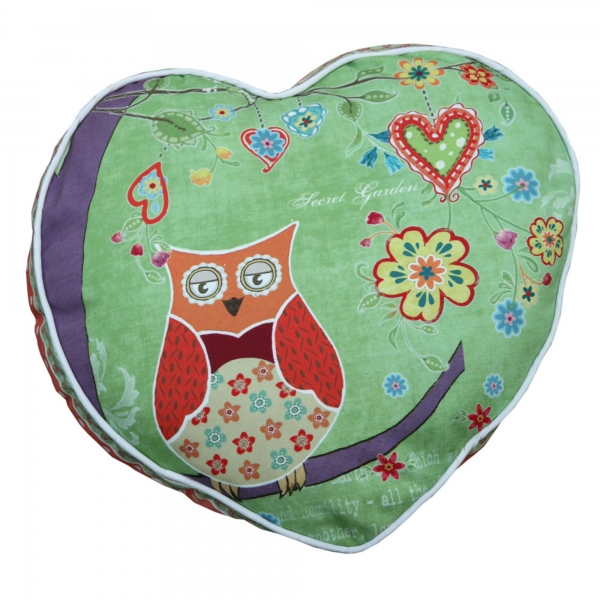 Vintage Primavera Cushion with Owl in Tree