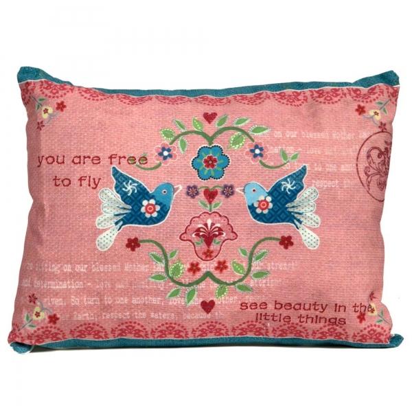 Vintage Primavera Cushion Love Birds