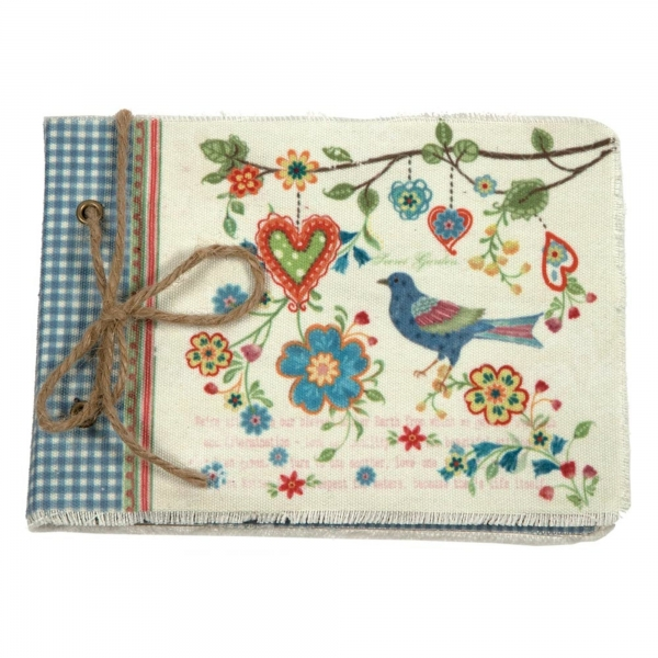 Vintage Primavera Notebook with Bird and Heart