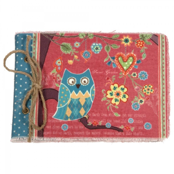 Vintage Primavera Notebook with Owl on Branch