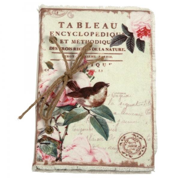Vintage Primavera Notebook with Bird on Branch
