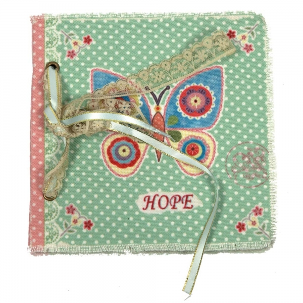 Vintage Primavera Notebook with Butterfly
