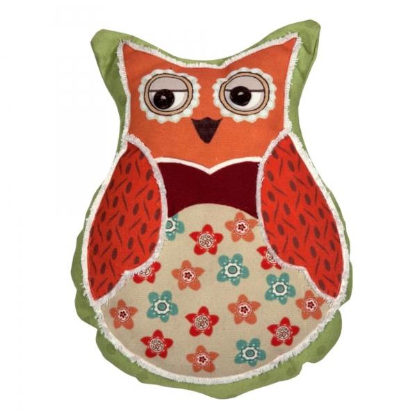 Vintage Primavera Owl Cushion
