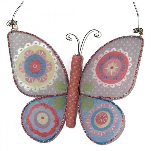 Vintage Primavera Crochet Wall Art Butterfly