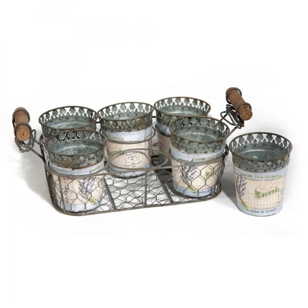 Vintage Primavera Metal Plant Pot Tray Holder