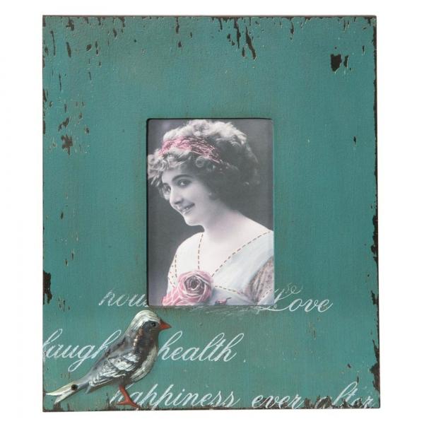 Vintage Primavera Rustic Blue Picture Frame