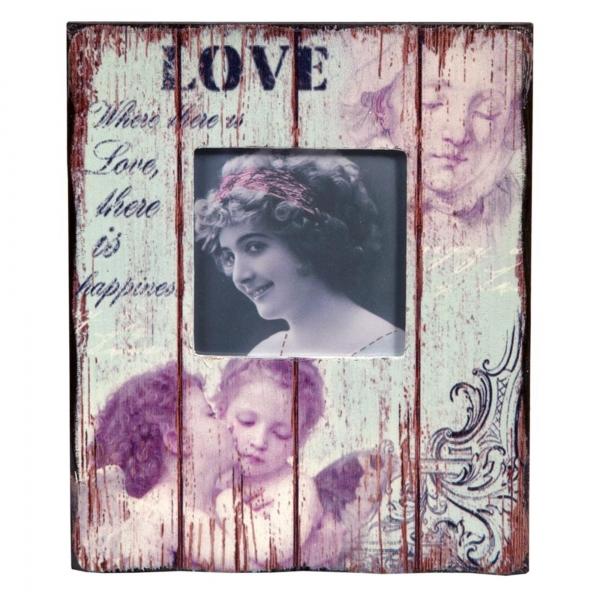 Vintage Primavera Wood Picture Frame Love