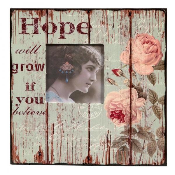 Vintage Primavera Wooden Hope Photo Frame